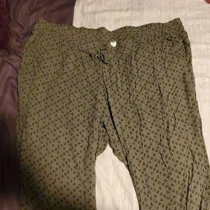 Comfy olive pants